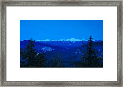 Mount Washington And The Presidential Range At Twilight From Mount Sugarloaf Framed Print
