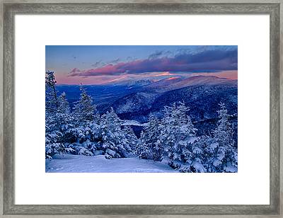 Mount Washington In The Evening Light From Mt Avalon Framed Print