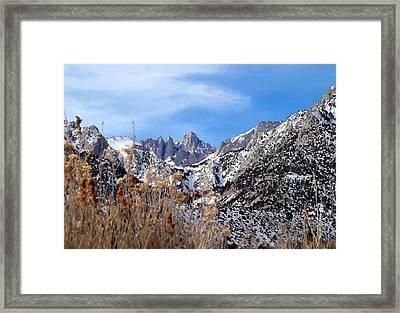 Mount Whitney - California Framed Print
