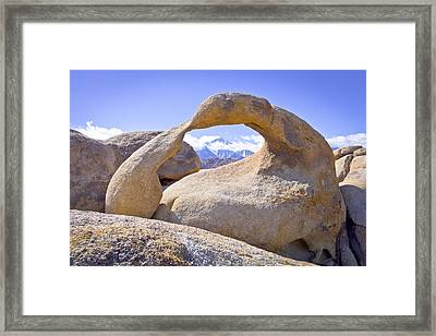 Mount Whitney Framed By The Mobius Arch Framed Print by Priya Ghose