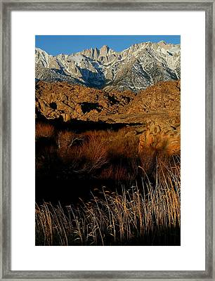 Mount Whitney From The Alabama Hills In California Framed Print