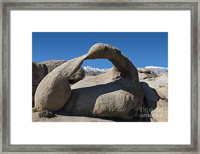 Mount Whitney Through Mobius Arch Framed Print by Sandra Bronstein