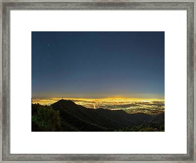 Mount Wilson And Los Angeles Framed Print