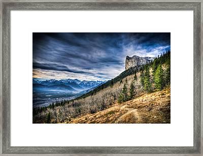 Mount Yamnuska Hiking View Framed Print