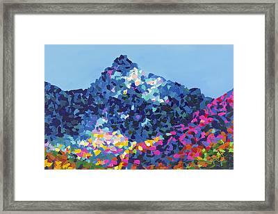 Mountain Abstract Jasper Alberta Framed Print by Joyce Sherwin