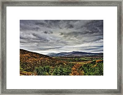 Mountain At The Windy Gap Framed Print by Tony Reddington