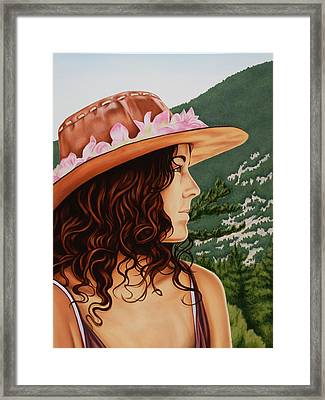 Mountain Beauty Framed Print by Charles Luna