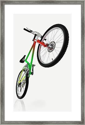 Mountain Bike Framed Print by Dorling Kindersley/uig