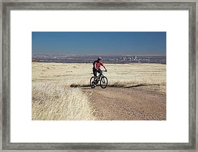 Mountain Biker Framed Print