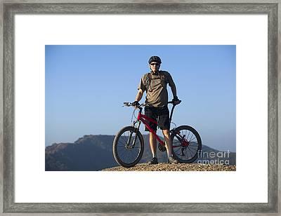 Mountain Biker Framed Print by Mike Raabe