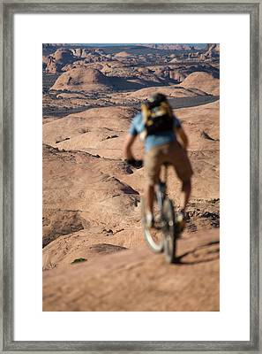 Mountain Biker, Moab, Utah Framed Print
