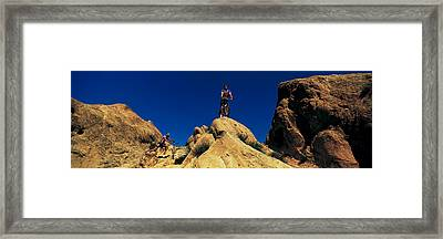 Mountain Bikers Ca Usa Framed Print