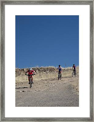 Mountain Bikers Framed Print by Jim West