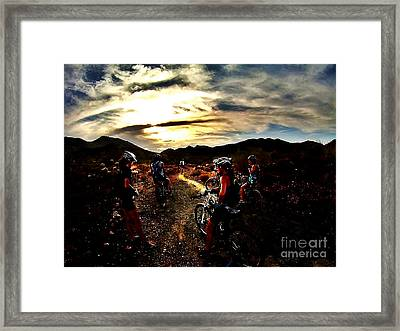 Mountain Biking Ladies Framed Print by Scott Allison