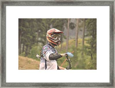 Mountain Biking Framed Print