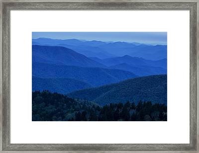 Mountain Blue Framed Print by Andrew Soundarajan