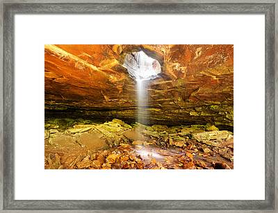 Mountain Bluff Waterfall - Arkansas Framed Print
