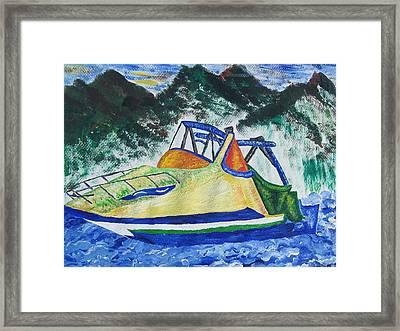Mountain Boating Framed Print by Debbie Nester
