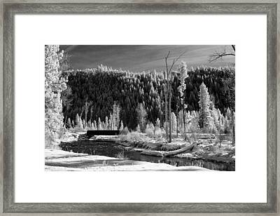 Mountain Bridge Framed Print