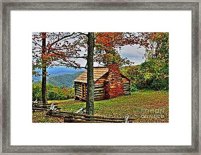 Mountain Cabin 1 Framed Print by Dan Stone