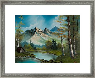 Mountain Retreat Framed Print by C Steele