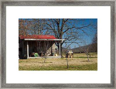 Mountain Cabin In Tennessee 2 Framed Print by Douglas Barnett
