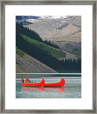 Mountain Canoes Framed Print by Marcia Socolik