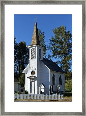 Framed Print featuring the photograph Mountain Chapel by Anthony Baatz