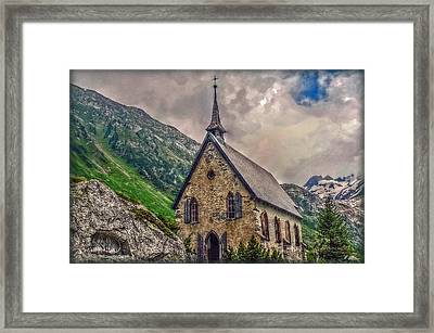 Framed Print featuring the photograph Mountain Chapel by Hanny Heim