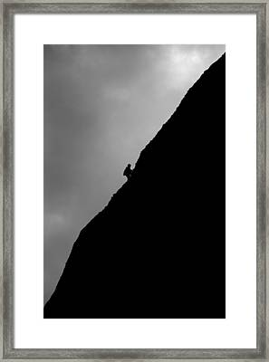 Mountain Climber Solitude Framed Print by Artur Bogacki