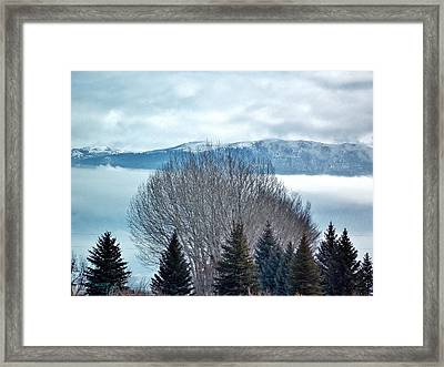 Mountain Cloud Framed Print