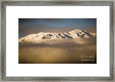 Mountain Cloud Framed Print by Tim Hester
