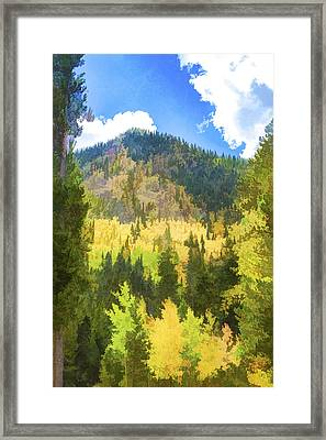 Mountain Colors Framed Print