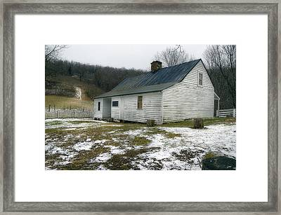 Mountain Country Farmhouse  1920s Framed Print by Steve Hurt