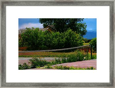 Mountain Court Framed Print by Mike Flynn