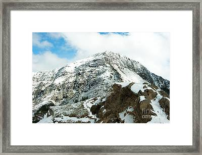 Mountain Covered With Snow Framed Print