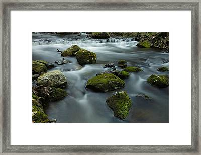 Mountain Creek In Stokes State Forest Framed Print