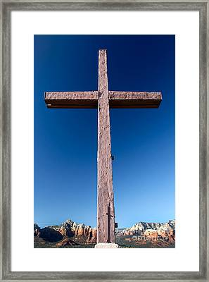Mountain Cross Framed Print