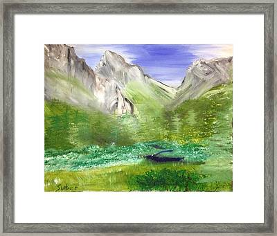 Mountain Day Framed Print by Suzanne Surber