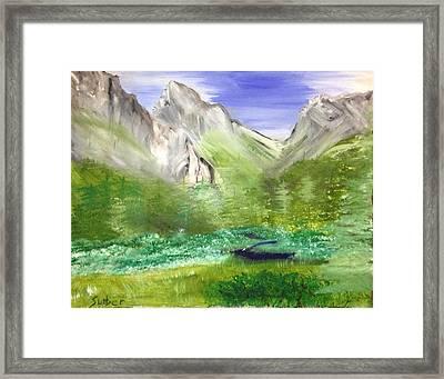 Mountain Day Framed Print