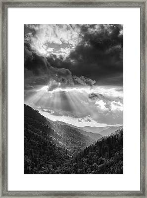 Mountain Drama Framed Print by Andrew Soundarajan