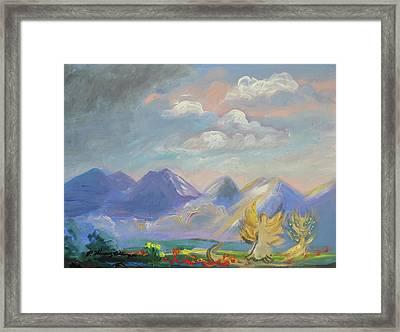 Mountain Dream Framed Print by Patricia Kimsey Bollinger