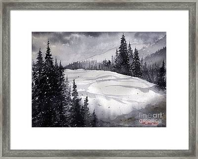 Mountain Drift Framed Print
