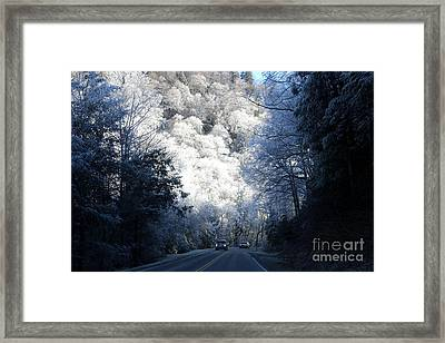Mountain Drive Framed Print
