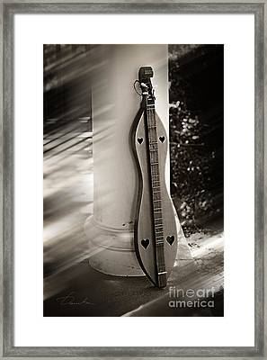 Mountain Dulcimer Framed Print