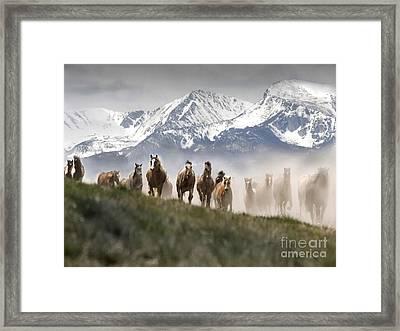 Mountain Dust Storm Framed Print by Wildlife Fine Art