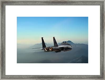 Mountain Eagle Framed Print by Peter Chilelli
