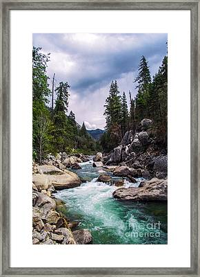Mountain Emerald River Photography Print Framed Print