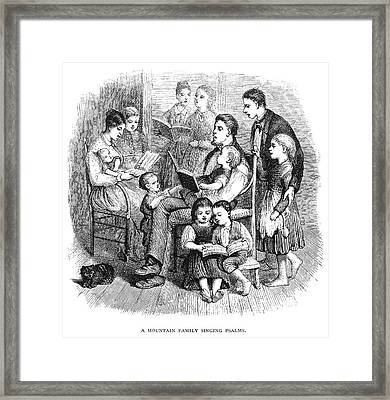 Framed Print featuring the painting Mountain Family, 1874 by Granger