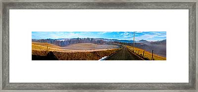 Mountain Farm Panorama Version 2 Framed Print